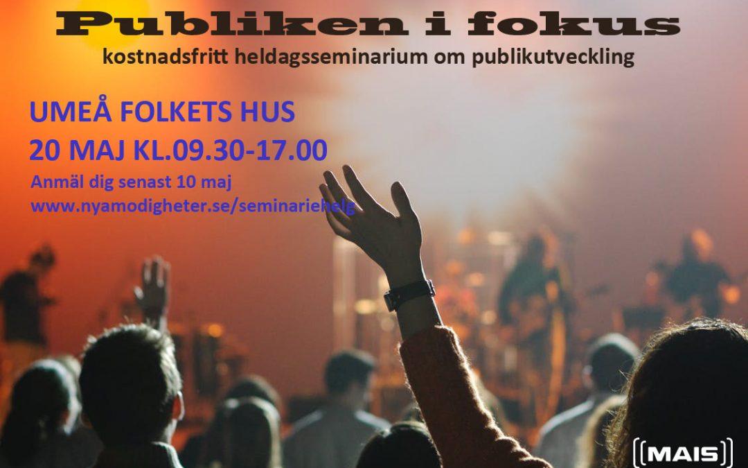 Heldagsseminarium om publikutveckling och mångfaldsarbete.
